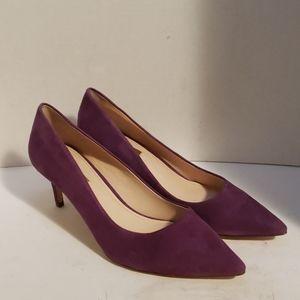 Louise et Cie purple suede pumps heels shoes